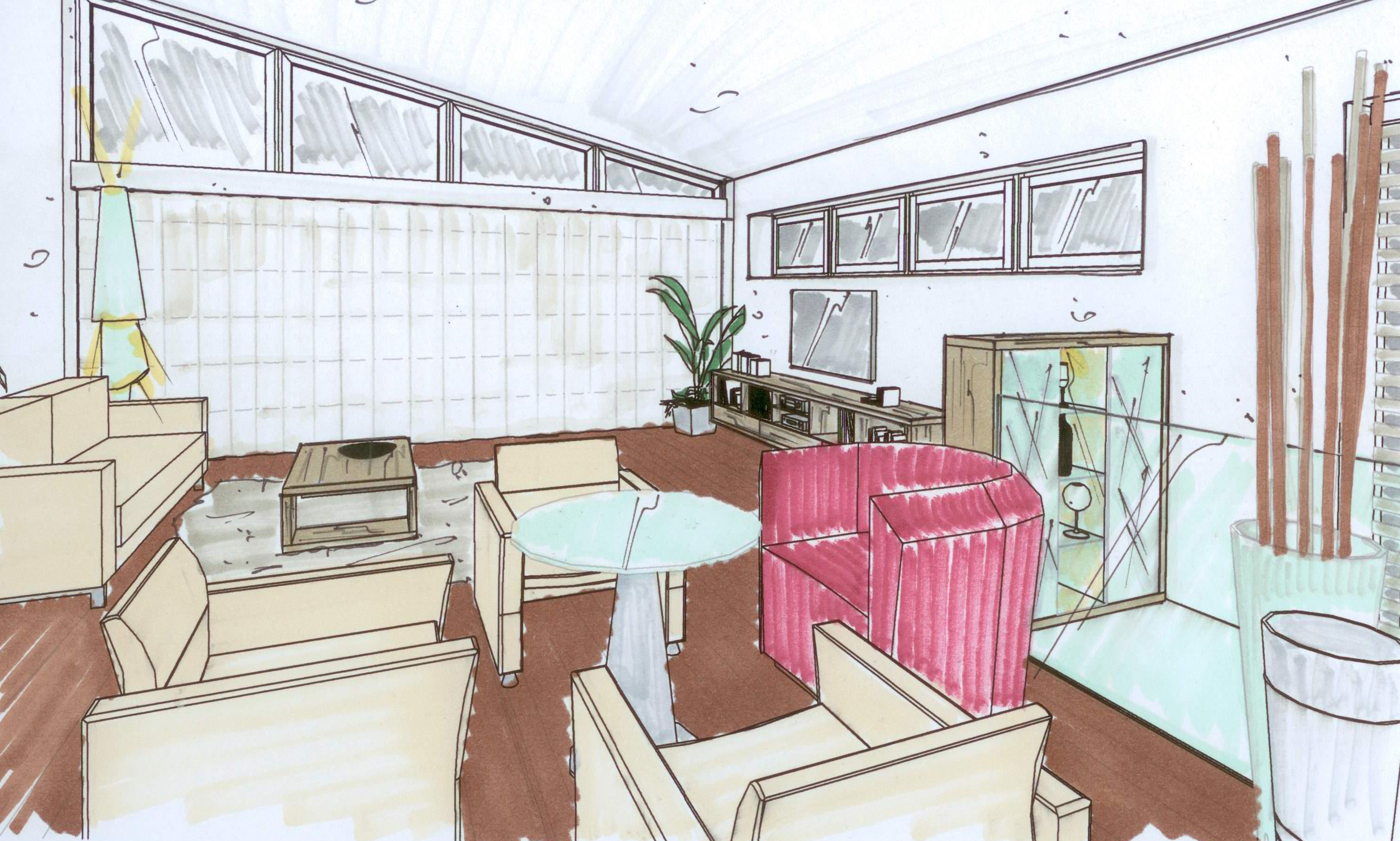 Wohnzimmer   Innenarchitektur Ringhofer